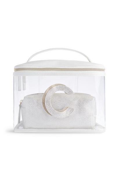Letter C Clear Makeup Bag