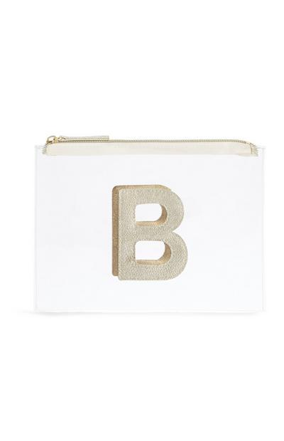 "Transparente Make-up-Tasche mit Initiale ""B"""