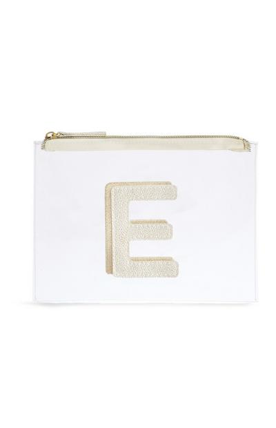 Letter E Clear Make-Up Bag