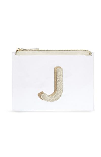 "Transparente Make-up-Tasche mit Initiale ""J"""