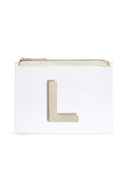Letter L Clear Make-Up Bag