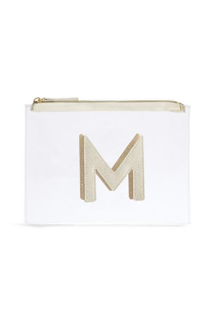 "Transparente Make-up-Tasche mit Initiale ""M"""