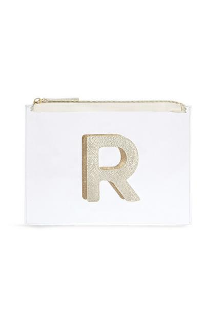 "Transparente Make-up-Tasche mit Initiale ""R"""