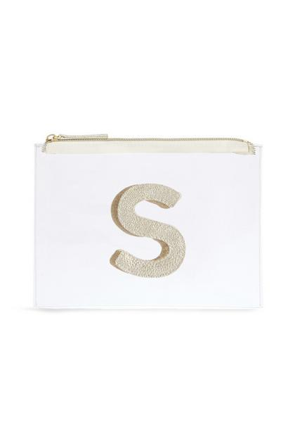 "Transparente Make-up-Tasche mit Initiale ""S"""