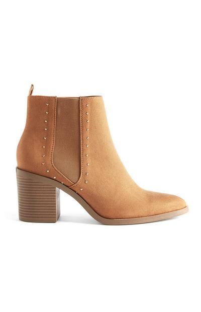 Tan Studded Western Boots