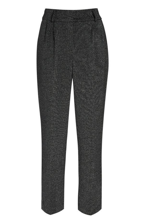 Pantalon noir ajusté à paillettes