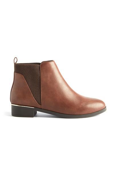 Boots Chelsea en simili cuir