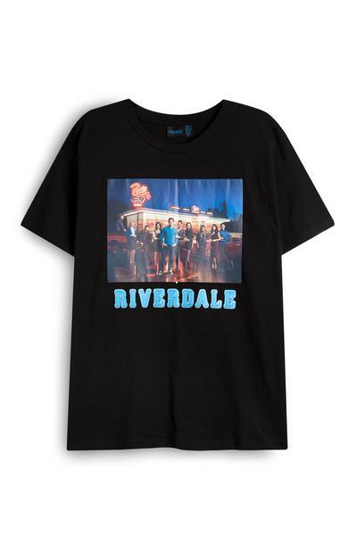 T-shirt nera con foto del cast di Riverdale