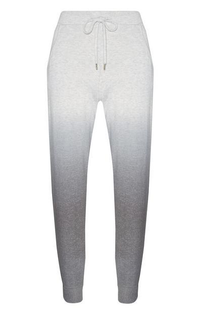 Pantalón de pijama gris degradado con tobillos elásticos