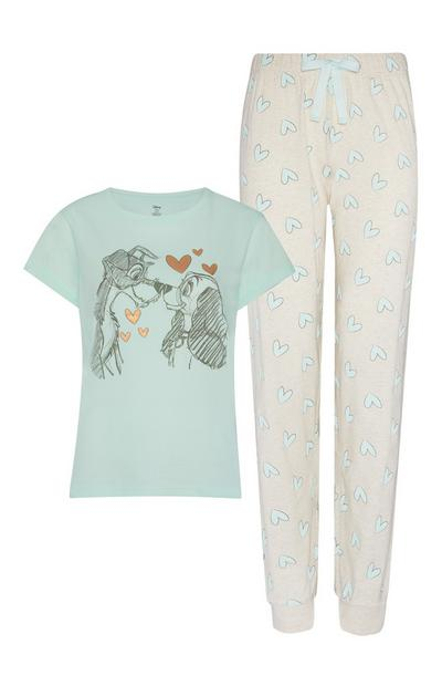 Blue And Grey Lady And The Tramp Pyjamas 2Pc