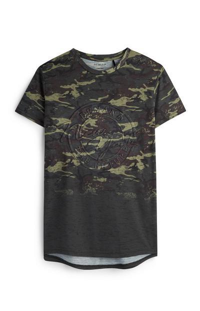 Camiseta de camuflaje con estampado en relieve para niño mayor