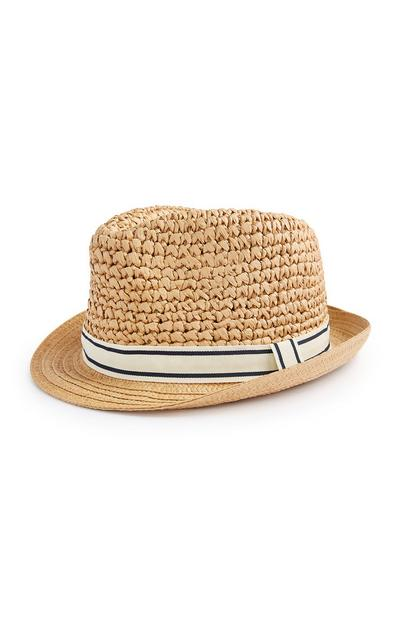 Older Girl Straw Trilby Hat