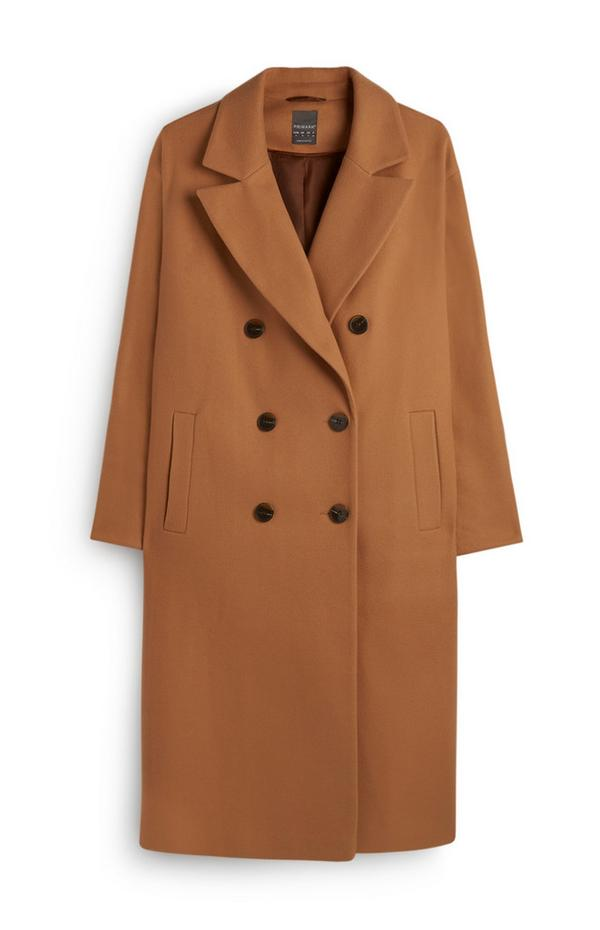 Abrigo largo color marrón claro