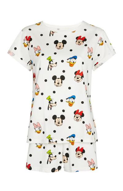 White Mickey Mouse And Friends Pyjamas 2Pc