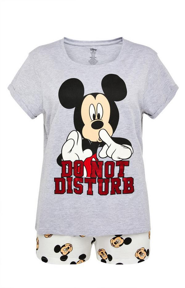 Grey Disney Mickey Mouse Short Pyjamas