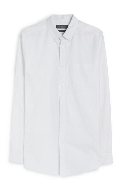 Langärmliges Hemd in Weiß