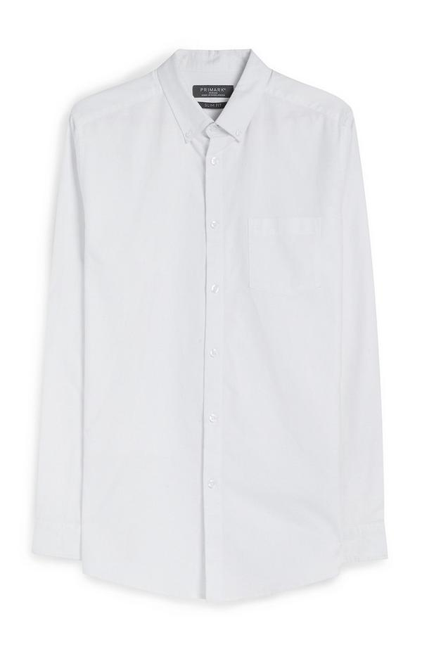 Overhemd met lange mouwen, wit
