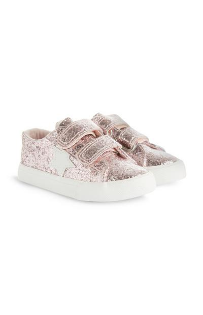 Younger Girl Glitter Velcro Trainers