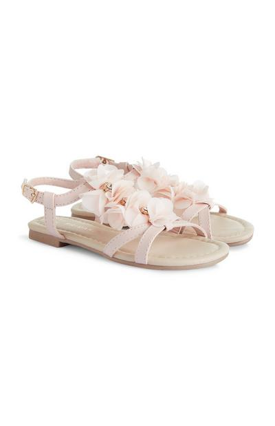 Younger Girl Floral Pink Sandals