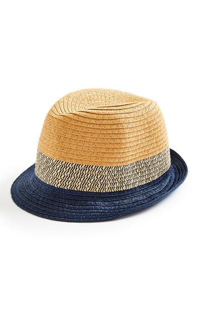 Blue Ombre Straw Hat