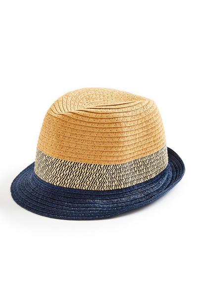 Older Boy Natural Contrast Straw Hat