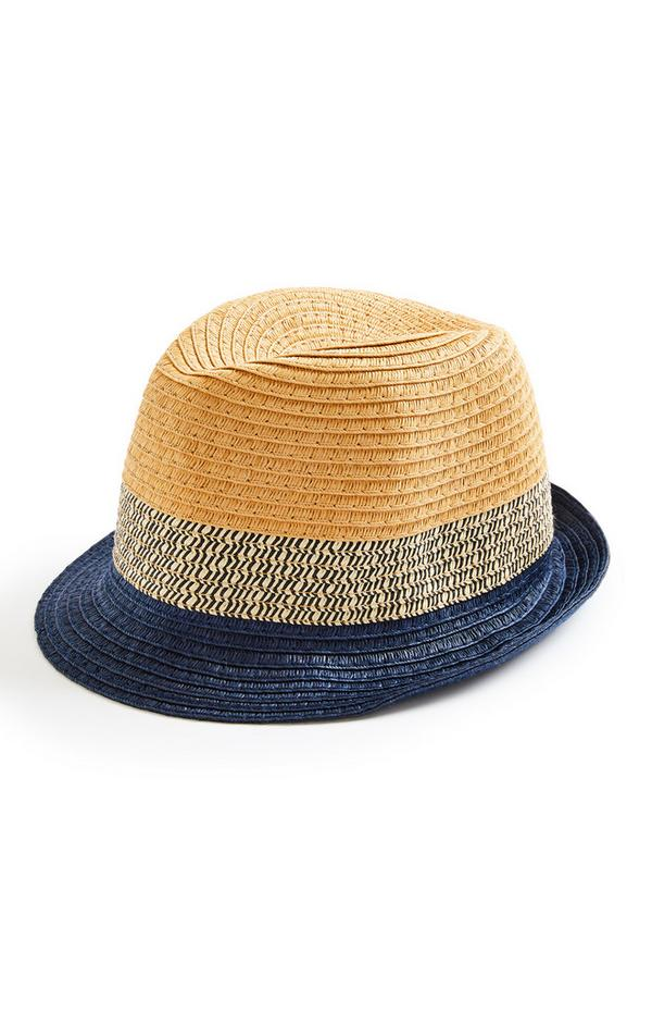 Older Boy Natural Contrast Straw Trilby