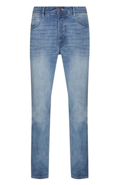 Light Blue Stretch Straight Leg Jeans