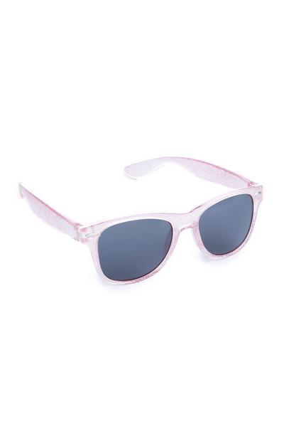Occhiali da sole da bambina rosa glitterati