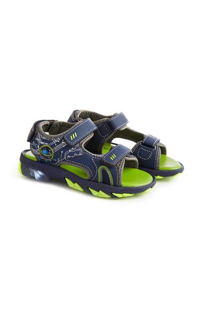 Navy Light Up Sandals