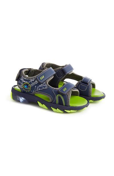 Sandálias luzes azul-marinho