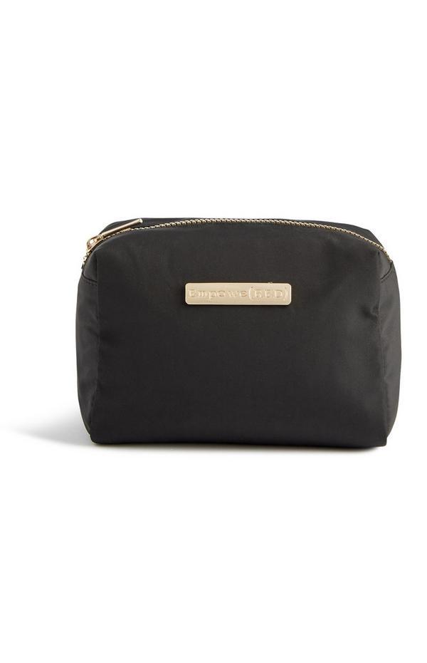 Schwarze Make-up-Tasche aus Nylon