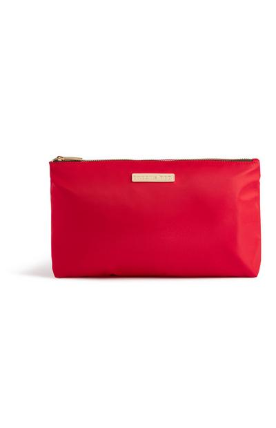 Red Nylon Toiletry Bag