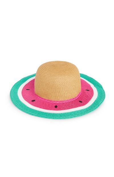 Watermelon Straw Hat