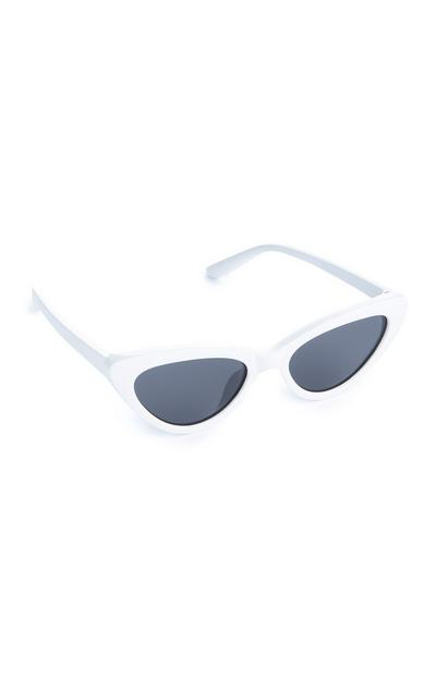 Younger Girl White Cat Eye Sunglasses