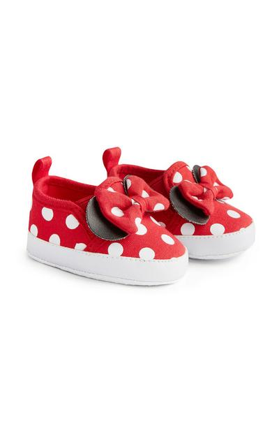 Chaussures rouges Minnie Mouse sans lacets