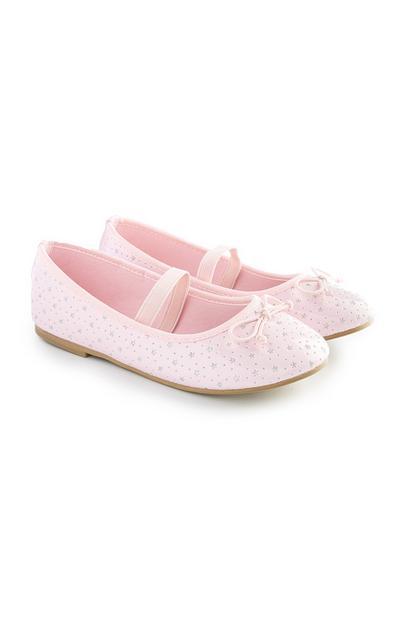 Pink Lasercut Ballet Pumps
