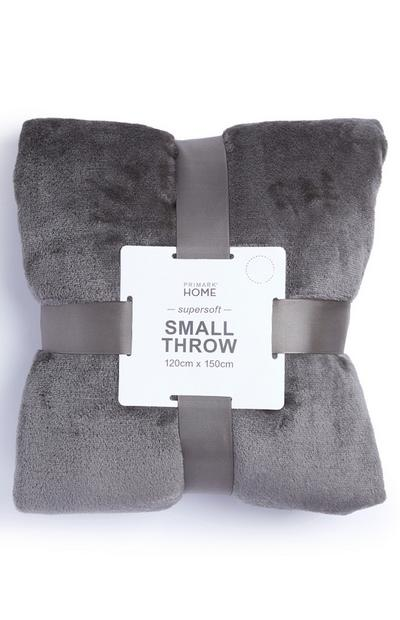 Taupe Small Soft Throw