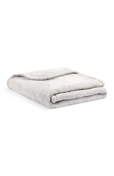 Cobertor relevo cinzento