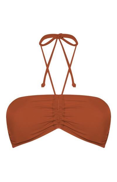 Terracotta Mix And Match Bandeau Bikini Top