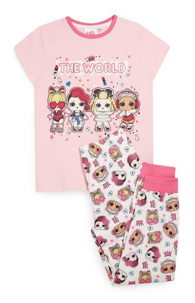 Pyjama rose LOL Dolls 2 pièces