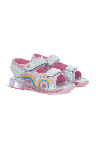 Younger Girl Rainbow Light Up Sandals