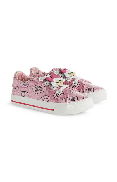 Younger Girl LOL Dolls Pink Glitter Trainers
