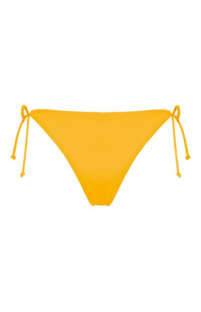 Yellow Mix And Match Triangle Bikini Bottoms