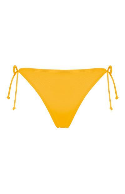 Slip bikini gialli a triangolo combinabili