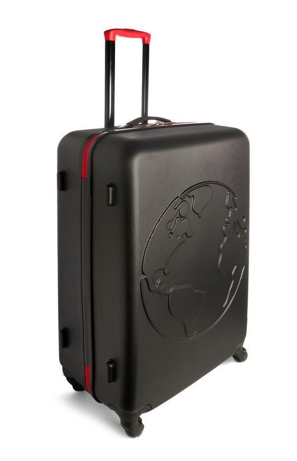 Zwarte stevige kleine koffer