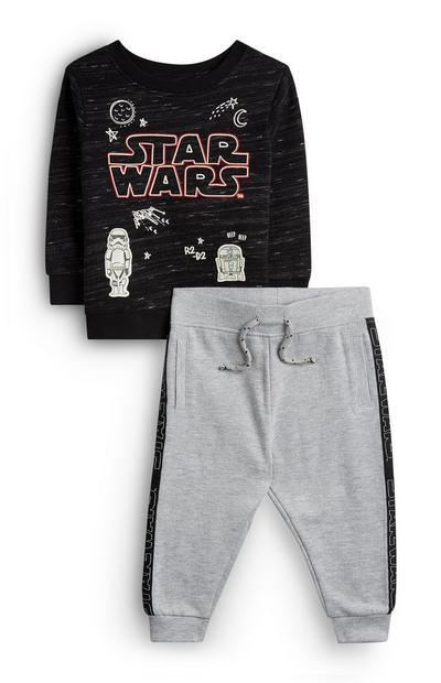 Zwart-grijze Star Wars-babyjoggingpak voor jongens, set van 2