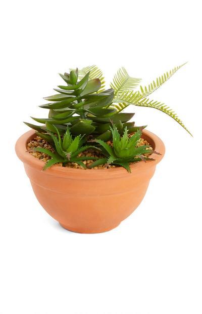 Planta artificial vaso terracota