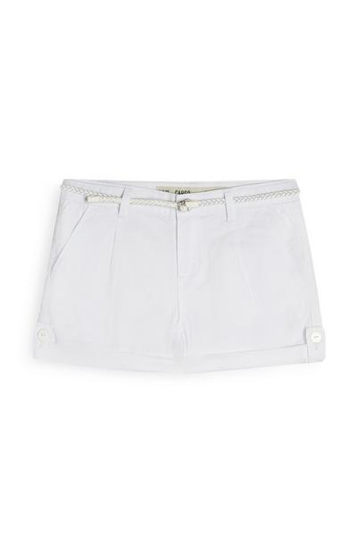 Older Girl White Shorts