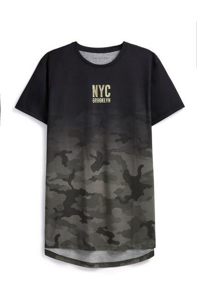 T-shirt camouflage délavé