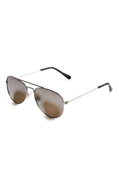 Goldtone Aviator Sunglasses